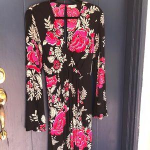 Gorgeous Floral Wrap Dress